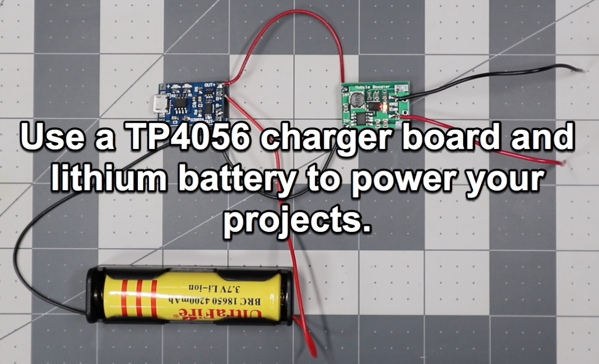 Power Your Projects With A Built In Lithium Battery And Tp4056 Lithiumion Charger One Powersupplycircuit Circuit Rubens Thoughts
